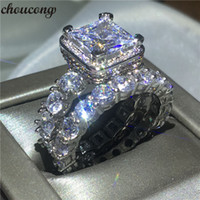 choucong Vintage ring Pave setting Diamond Cz 925 Sterling s...