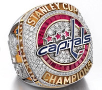 2018 Washington Capitals Stanley Cup Campeonato anel Fan Men Presente Por Atacado Transporte da gota