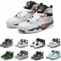 2021 Chrome Aqua Альтернативные мужские баскетбольные туфли классические 8S VIII середины спортивных спортивных кроссовки