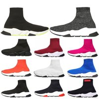 Balenciaga sock shoes ACE Designer casual sock Shoes Speed Trainer Black Red Dark Grey Fashion Socks Sneaker Trainer casual shoes 36-45