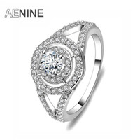 AENINE Original Style Ring Gold Color Copper Engagement Wedd...