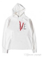 New York designer letter hoodie limited red v- head couple sw...