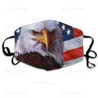 Eagle Flag Adjustable Reusable Designer Mask 2 Pcs Carbon Fi...