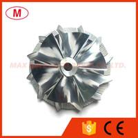 K04 43,30 / 56.08mm 6 + 6 lames Forward haute performance billettes roue de compresseur / Aluminium 2618 / Turbocompresseur roue de fraisage
