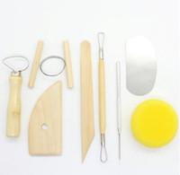 8 teile / satz Wiederverwendbare Diy Keramik Tool Kit Home Handarbeit Ton Skulptur Keramik Form Zeichnung Werkzeuge
