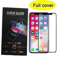 couverture complète protecteur d'écran en verre trempé pour l'héritage Coolpad pour iPhone 12 pro max stylo5 7 alcatel G9 jeu g rapide paquet dur