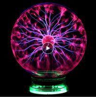 ノベルティガラスマジックプラズマボールライト3 4 5 6インチテーブルライトスフィアナイトライトキッズ新年マジックプラズマナイトランプ