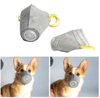 Pet Dog Muzzle Smoke Mouth Mask Anti Bark Anti-PM2. 5 укус регулируемый дышащий серый дрессировочный намордник для здоровья домашних животных S M L размер