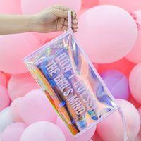 Large Capacity Transparent Laser Makeup Bag Cute ravel bag Hanging Toiletry Wash Bag Cosmetic Bags 4 Colors