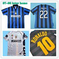 09 10 Milito J.Zanetti Inter Retro Futebol Jerseys 97 98 99 Djorkaeff Sneijder Milano Classic Maglia 2002 2003 Jersey do futebol vintage