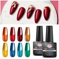 Познакомьтесь с металлическим цветом ногтей гель лак лак матовый УФ гель нужен матовый верхний слой маникюр DIY Nail Art Gel Paint