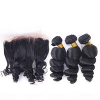 7A Peruvian Hair Weave With Lace Frontal Ear To Ear Natural ...
