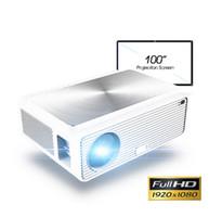 Q9 풀 HD 1080P 프로젝터 4K 6500 루멘 시네마 Proyector Beamer HDMI USB AV VGA 선물