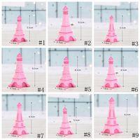 Torre Eiffel Resina Artesanía Miniatura Jardín de Hadas Decoración de la Habitación de Escritorio Micro Paisaje Accesorio Jardinera de Cactus Artículos de Novedad GGA2013
