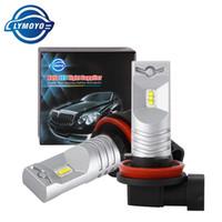 LYMOYO coche H8 H9 H11 H16JP 9005 9006 con el chip CSP drl 6SMD LED automática de faros antiniebla luz diurna bulbo Volviendo Faro 12V