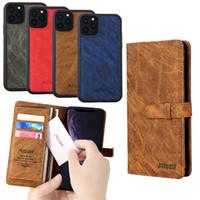 Klassische 2in1 Geschäfts Wallet Schutz Telefon-Kasten mit Magnet Abnehmbare Leder-Handy-Fälle für Iphone6 7/8/11 X / XS / XR Pro Max