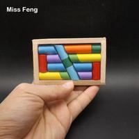 B250 / Colección Classic Colorful Block Stick en Side The Box IQ Brain Teaser Magic Game
