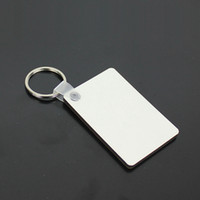 MDF فارغة مفتاح سلسلة مستطيل التسامي مفتاح العلامات الخشبية للحرارة الصحافة نقل الصور شعار واحدة أحادية الجانب الطباعة الحرارية هدية ZZA1884