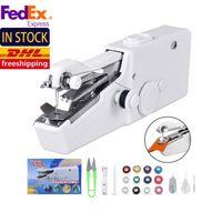 US Stock Mini Portable électriques à main couture brodeurs Cousez Needlework vêtements sans fil Tissus Sets FY7066
