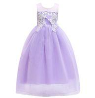 Avrupa Büyük Kız Elbise Çocuk Nakış Pileli tül Etek Bebek Çocuk Tül Parti Elbise Kız Dantel Balo Tutu Prenses Elbise W334