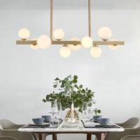 American Sala da pranzo in metallo LED Pendente Light Post Modern Globe Pendente Lampada a sospensione Lustro Luminaria Apparecchi illuminazione per interni Lamparas