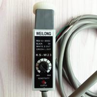 WEILONG Renk Kodu Sensörü KS-W23 (Beyaz Işık Kaynağı) NPN Çanta Yapma Makinesi Fotoelektrik Anahtarı Sensörü KS-C2W Değiştirin