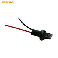 FEELDO 2PCS Coche 7440/7441/1881 Bombilla LED Adaptador de enchufe macho con adaptador de conector de cable extendido de 2 hilos # 5973