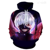 New Classic Gelegenheits Anime Tokyo Ghoul 3d Hoodies Autumn Fashion Hoodie Harajuku Hip Hop Männer Frauen T-Shirt Pullover