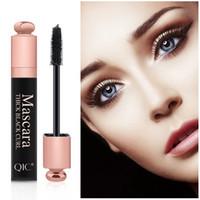 패션 QIC 4D 두꺼운 마스카라 메이크업 블랙 컬 긴 속눈썹 화장품 방수 눈 속눈썹 뷰티 핫 판매