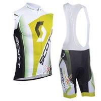 2019 Scott Team Cycling Sticking Jersey Gilet Bib Shorts Set da uomo Estate all'aperto Quick Dry Mountain Mountain Bike di alta qualità Set K053112