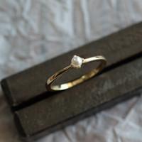 14k Мини- Small Star Pearl Малого Свежий день Хан Jianyue Fold Дай Бай Ши мое кольцо