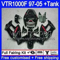 HONDA SuperHawk 용 본체 VTR1000F 97 98 99 00 01 02 256HM.25 VTR1000 F VTR 1000 F 1000F 스톡 블랙 1997 1998 1999 2000 2001 2002 페어링