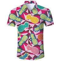 Hawaii Mens Hipster Covered Button Shirts 2019 Fashion Casua...