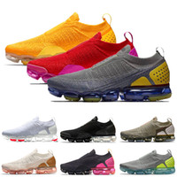Nike Air Max Vapormax FLYKNIT Moc 2 Schnurlose Sneakers Damen Herren Laufschuhe University Gold Rot Fuchsia Blast Dark Stucco Runners 36-45