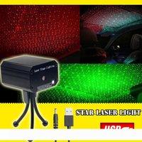 Sahne yeni yıldızlı gökyüzü Mini kırmızı ve yeşil lazer ışığı Taşınabilir şarj hazine USB araç ses kontrolü lazer ışığı