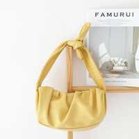 Pleated Underarm Tote Bag For Women 2020 Fashion Cloud Shoul...