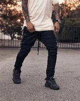 Guapi GVAPI MMXV TÜM SİYAH PARÇA PANTOLON Sweatpants Erkek Koşucular Pantolon Moda Günlük Stil Asya Boyut 29-36