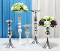 12inch 20inch 43 polegadas altura metal titular vela vela de casamento peça de idade evento estrada chumbo flor stands rack vaso decoração de casa