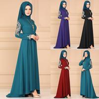 Ropa étnica Malasia Vestido musulmán Dubai Abayas para Mujeres Bangladesh Hijab Turkish Caftan Marocain Pakistán Islámico