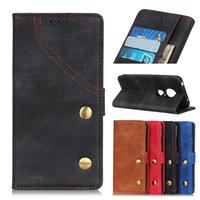 Denim Texture Wallet Case para Moto P40 play P30 note SL0 PU Flip Cover Funda para Moto Z4 E5 Play G7 Plus Z3 Play One Power