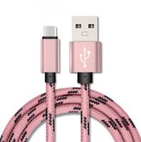 1M 3FT OD 4,0 2A Сетка Скорость зарядки Нейлон Плетеный металла Adatper синхронизации данных Micro USB Type C кабель 1000шт / серия
