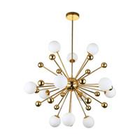 Стеклянная светодиодная лампа Современный дизайн Chanselier Потолона для гостиной Спальня Столовая Светильники Светильники Декор Дома Освещение G4 220V - Le25
