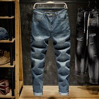 2020 Men Business Blue Jeans Classic Spring Autumn Male Stra...