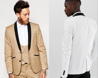 New Arrivals Two Buttons Groom Tuxedos Shawl Lapel Groomsmen...