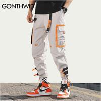 Gonthwid Multi Bolsos De Carga Harem Calças Basculador Homens Hip Hop Moda Calças Casuais Streetwear Harajuku Hipster Sweatpants Y19073001