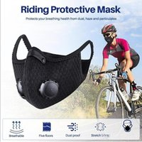 DHL FAST Ship Cycling Protective Face Masks With Filter Blac...