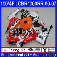 Injection Body +Tank For HONDA CBR 1000 RR CBR 1000RR 06-07 276HM.4 CBR1000RR Repsol red white 06 07 CBR1000 RR 2006 2007 OEM Fairings kit