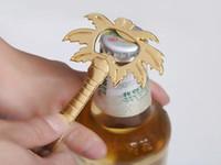 Hot vendre Palm Breez Chrome Palmier Bouteille de bière douche nuptiale mariage Opener faveur cadeau avec une bonne qualité