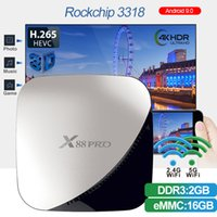 Android 9.0 TV BOX 2 ГБ 16 ГБ X88 Pro Rockchip RK3318 Quad Core 2.4G / 5G Двухдиапазонный Wi-Fi Youtube 4K Media Player