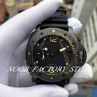 Factory Sales Watch 47mm Czarny Pasek Gumowy Super P 00616 Mechaniczny automatyczny ruch Moda Zegarki ze skrzynką originy